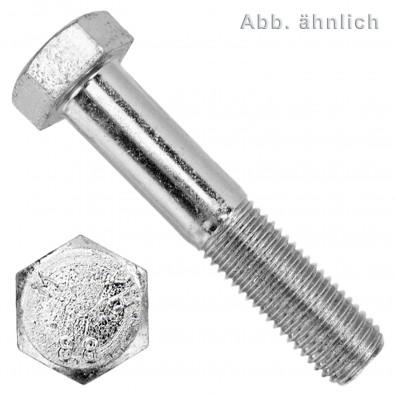 100 Sechskantschrauben DIN 931 - M8 x 200mm - verzinkt - Festigkeitsklasse 8.8