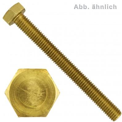 50 Sechskantschrauben M12 x 50 mm - SW 19 - Messing - DIN 933