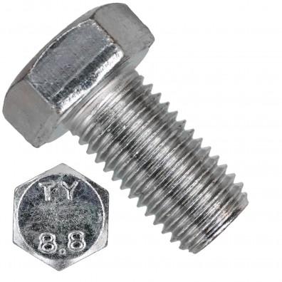 50 Sechskantschrauben DIN 933 - M16 x 30mm - verzinkt - Festigkeit 8.8