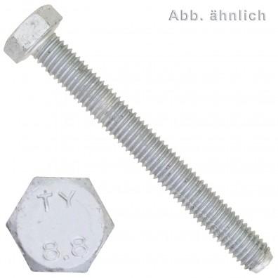200 Sechskantschrauben M8 x 20 mm - DIN 933 - 8.8 zinklamellenbeschichtet