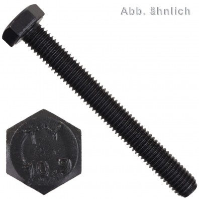 100 Sechskantschrauben M10 x 60 mm - SW 17 - Stahl 10.9 - DIN 933