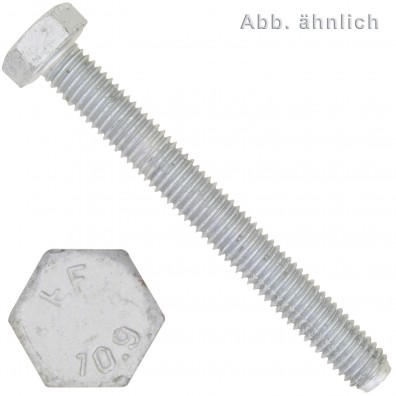 50 Sechskantschrauben M16 x 25 mm - DIN 933 - 10.9 zinklamellenbeschichtet