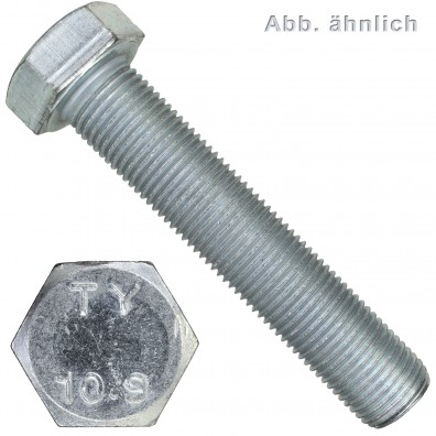 10 Sechskantschrauben M24 x 130 mm DIN 960 10.9 Feingewinde 2 mm