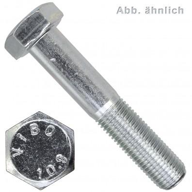 100 Sechskantschrauben M10 x 45 mm DIN 960 10.9 verzinkt Feingewinde 1 mm
