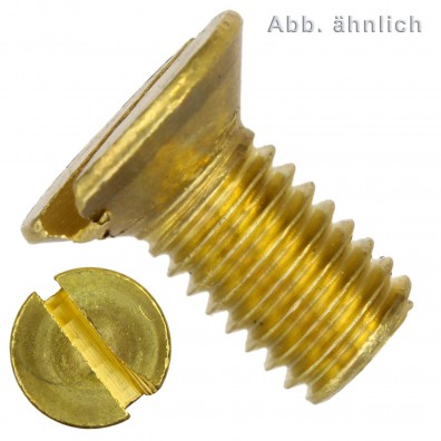 200 Senkschrauben DIN 963 mit Schlitz Messing M2 x 10mm