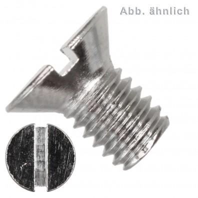 Senkschrauben DIN 963 - Schlitz - Messing - vernickelt