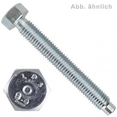 Sechskantschrauben - DIN 561 - mit Rille - 8.8 - verzinkt