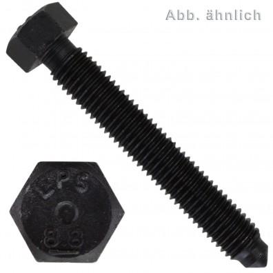 50 Sechskantschrauben M10 x 30 mm - DIN 564 - mit Rille - 8.8 blank