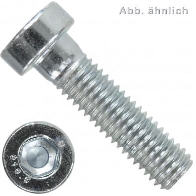 200 Zylinderschrauben M8 x 30 mm - DIN 6912 - Innensechskant - 10.9 verzinkt