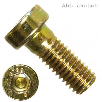Innensechskantschraube mit niedrigem Kopf DIN 6912 8.8 gelb verzinkt