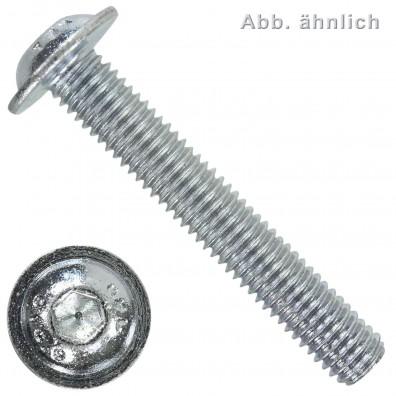 500 Linsenschrauben mit Innensechskant und Bund M6 x 12 mm - ISO 7380-2 - 10.9
