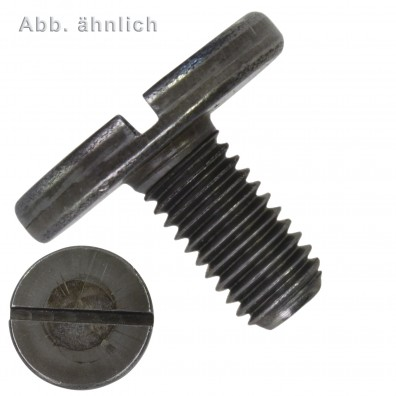 100 Flachkopfschrauben M3 x 5 mm - DIN 921 - mit Schlitz - 4.8-5.8 blank