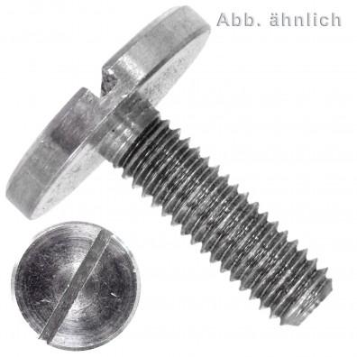 Flachkopfschrauben DIN 921 - Edelstahl A1 - mit Schlitz