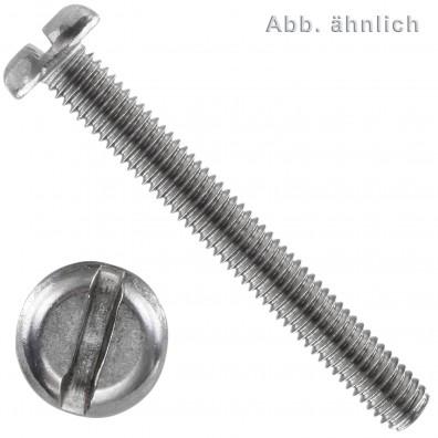 Flachkopfschraube DIN 85 - Edelstahl A2 - Schlitz