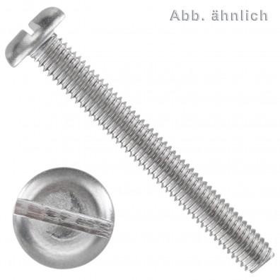 Flachkopfschrauben DIN 85 - Edelstahl A4 - Schlitz