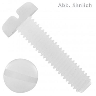Flachkopfschrauben DIN 85 - Polyamid - Schlitz