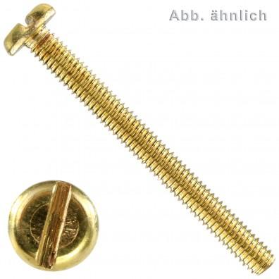 Flachkopfschrauben DIN 85 - Messing - Schlitz