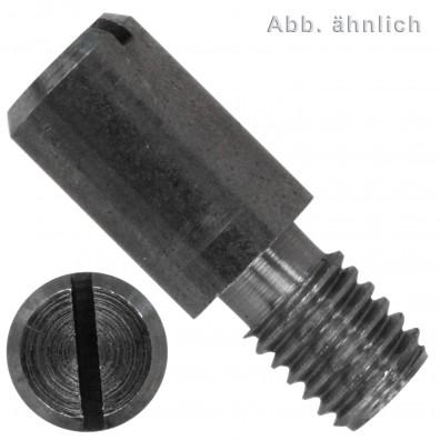 Zapfenschrauben - DIN 927 - mit Schlitz - 14H blank