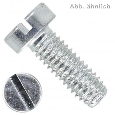1000 Zylinder-Schneidschrauben M4 x 8mm - DIN 7513 Form B - Schlitz - verzinkt