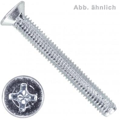 Senk-Schneidschrauben - DIN 7516 Form D - PH - verzinkt