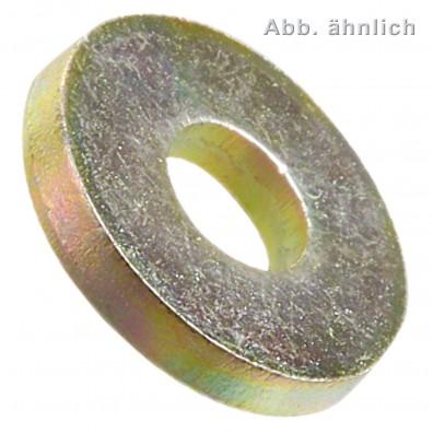 Scheiben für Schrauben mit schweren Spannstiften DIN 7349 - 200HV - gelb verzinkt