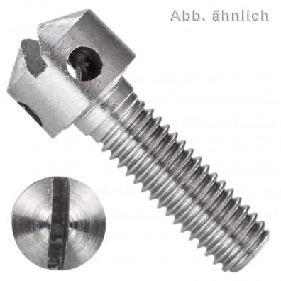 Kreuzlochschrauben - DIN 404 - Zylinderkopf - Schlitz - Edelstahl A1