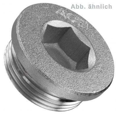 Verschlussschrauben - DIN 908 - zylindrisches Feingewinde - Stahl