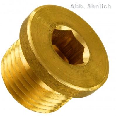 Verschlussschrauben - Rohrgewinde - DIN 908 - Messing