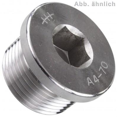 Verschlussschraube - Rohrgewinde - DIN 908 - Edelstahl A4