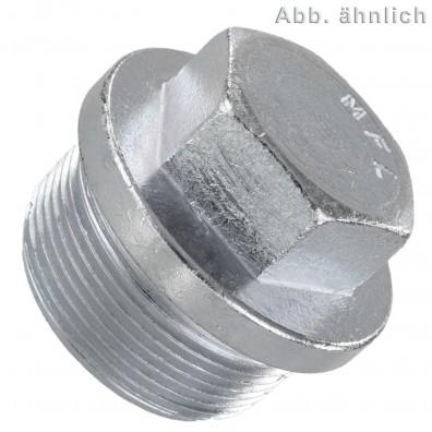 50 Verschlussschrauben M12 x 1,5 mm Feingewinde DIN 910 Stahl verzinkt
