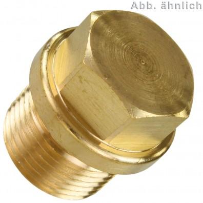 50 Verschlussschrauben M14 - DIN 910 - 1,5 mm Feingewinde - Messing