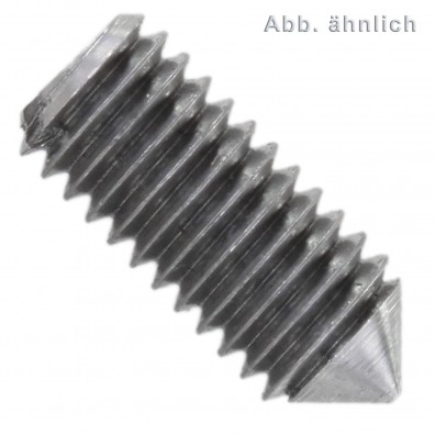 200 Gewindestifte mit Schlitz und Spitze DIN 553 M2 x 4 mm