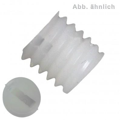 100 Gewindestifte mit Schlitz und Kegelkuppe M4 x 6 mm - DIN 551 - Polyamid
