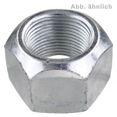 100 Sechskantmuttern M14 - Fein 1,5mm - hoch,mit Klemmteil - verz. - DIN 980