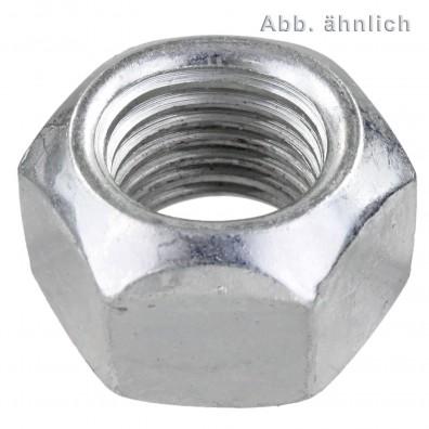 Sechskantmuttern DIN 980 - Feingewinde - galvanisch verzinkt - Festigkeitsklasse 8.8
