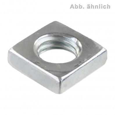 Vierkantmuttern - DIN 562 (niedrige Form) - verzinkt