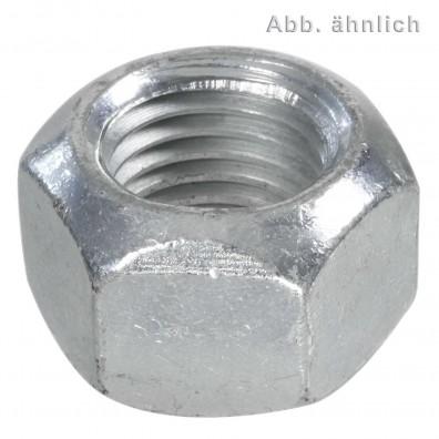 50 Sechskantmuttern mit Klemmteil - Ganzmetallmuttern - M20 - DIN 6925