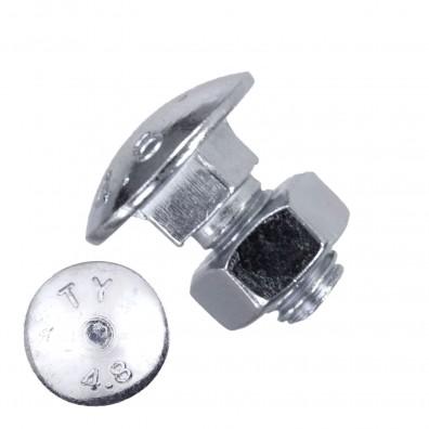 200 Schlossschrauben DIN 603 - M8 x 16mm - galvanisch verzinkt - inkl. Mutter