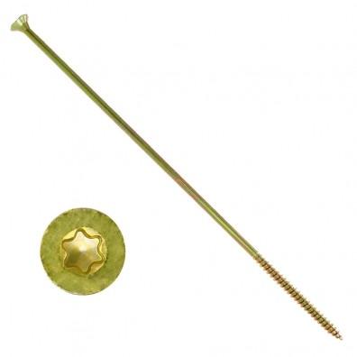 100 Spanplattenschrauben  Fräsrippen Senkkopf TX30 gelb verzinkt 6x240