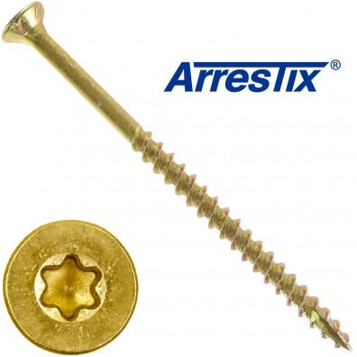 200 Arrestix Spanplattenschrauben 5 x 80mm - Senkkopf TX ETA - gelb verzinkt