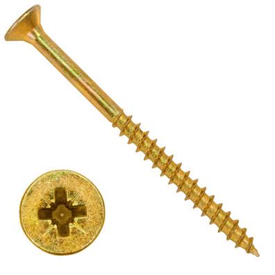 500 Senkkopf Spanplattenschrauben gelb verzinkt PZ Teilgewinde 4,5x60