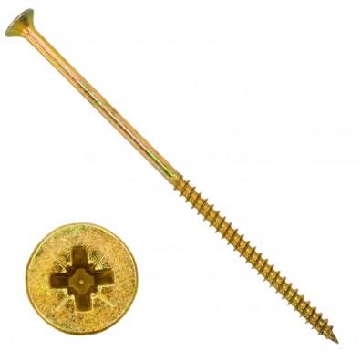 100 Senkkopf Spanplattenschrauben gelb verzinkt PZ Teilgewinde 6x140