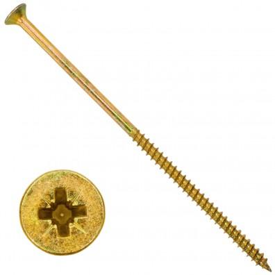100 Senkkopf Spanplattenschrauben gelb verzinkt PZ Teilgewinde 6x160
