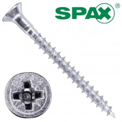 500 Spax(ABC) Spanplattenschrauben Senkkopf PZ galvanisch verzinkt 4,5 x 50