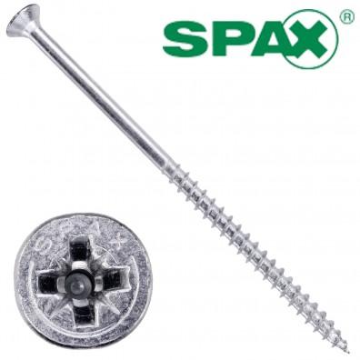100 Spax(ABC) Spanplattenschrauben Senkkopf PZ galvanisch verzinkt 6,0 x 120