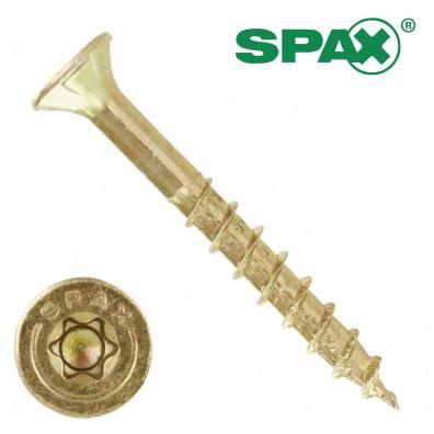 200 Spax(ABC) Spanplattenschrauben Senkkopf Torx gelb verzinkt 6,0 x 50