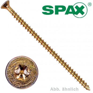 25 Spax(ABC) Holzbauschrauben 8,0 x 550 Senkkopf T-Star verz gelb passiviert A2L