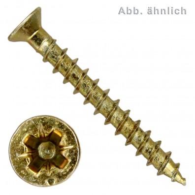 Spax(ABC) Universalschrauben - gelb verzinkt - Pozidriv kleiner Senkkopf