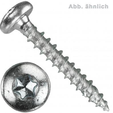 Spanplattenschrauben - Schneid-/Vollgewinde - Torx® (TX) - Pan Head - galvanisch verzinkt