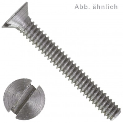 100 Senkschrauben M1,6 x 4 mm - DIN 963 - blank gedreht